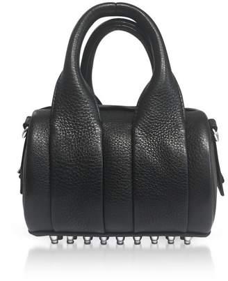 Alexander Wang Black Soft Pebble Leather Baby Rockie Satchel Bag