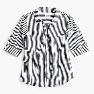 J.Crew Tall short-sleeve button-up shirt in stripe