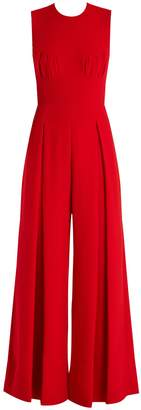 Emilia Wickstead Ethel wide-leg wool-crepe jumpsuit