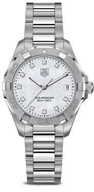 Tag Heuer Aquaracer 300M Quartz Stainless Steel Watch with Diamonds, 32mm