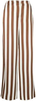 Oscar de la Renta wide leg striped trousers