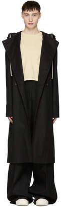 Rick Owens Black Poncho Trench Coat