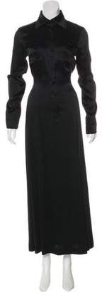 Rene Lezard Long Sleeve Maxi Dress