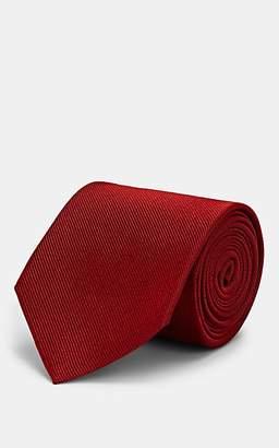 Alexander McQueen Men's Moth-Motif Silk Necktie - Red