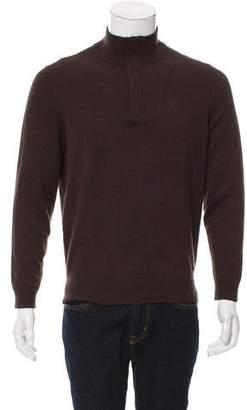 HUGO BOSS Boss by Virgin Wool-Blend Half-Zip Sweater