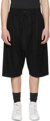 Y-3 Black Twill Sarouel Shorts