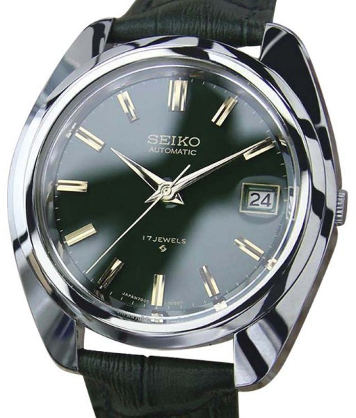 Seiko Seiko 7005 7031 Stainless Steel / Leather 40mm Mens Watch
