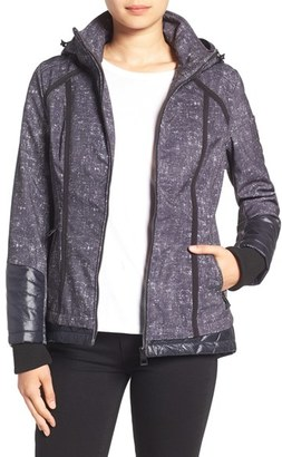 Women's Guess Water Resistant Hooded Soft Shell Jacket $128 thestylecure.com