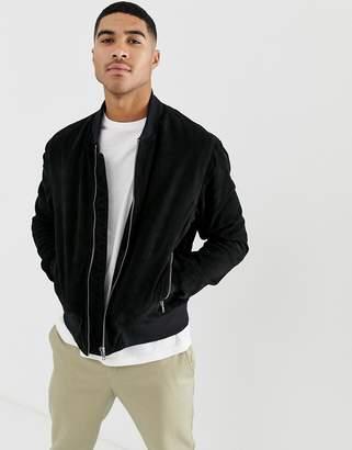 Bolongaro Trevor suede bomber jacket