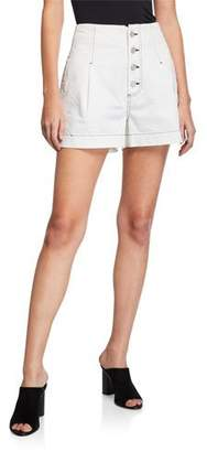 Joie Tylar Button-Fly Shorts