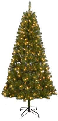 St Nicholas Square 7-ft. Pre-Lit Artificial Christmas Tree