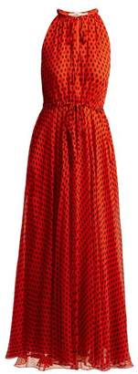 Diane von Furstenberg Baker Polka Dot Silk Crepe Dress - Womens - Red Print