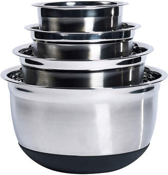 Denmark 4-pc. Stainless Steel Mixing Bowl Set with Silicone Base