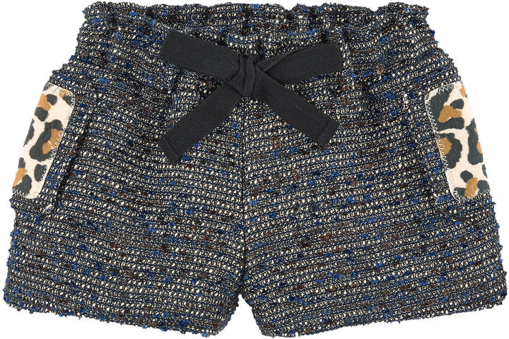 Little Marc Jacobs Jacquard knit shorts with lurex