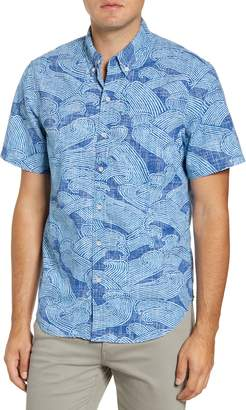 Reyn Spooner Pacific Current Classic Fit Short Sleeve Button-Down Shirt