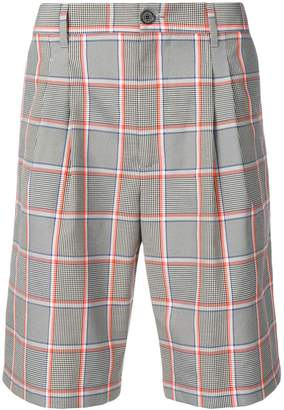 MSGM checked Bermuda shorts