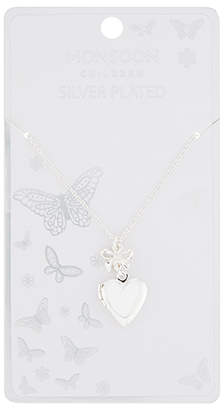 Monsoon Silver Plated Heart Locket Necklace