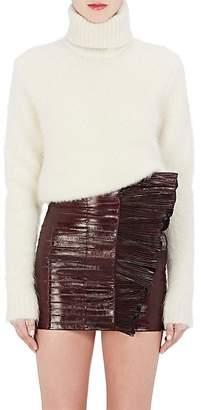 Saint Laurent Women's Mohair-Blend Turtleneck Sweater $950 thestylecure.com