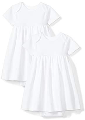 Moon and Back Baby Girls Set of 2 Organic Short-Sleeve Dresses