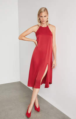 BCBGMAXAZRIA Crisscross Back Slip Dress