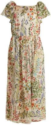 RED Valentino Floral-print chiffon dress