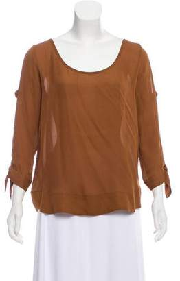 Myne Silk Bow Top