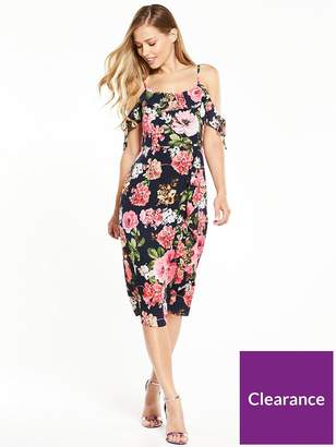 Very Frill Front Midi Dress