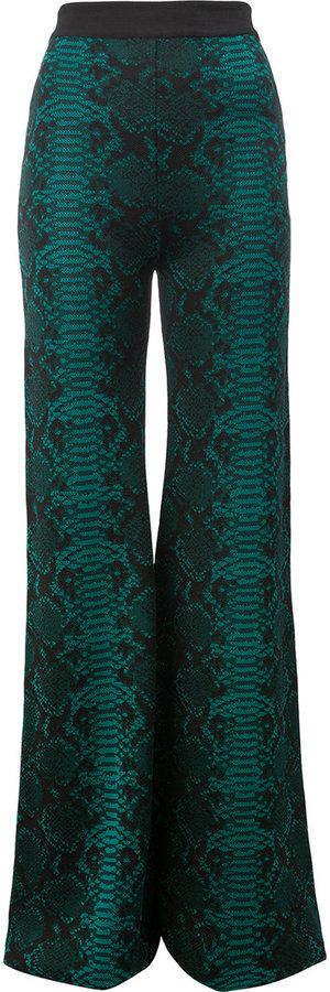 BalmainBalmain patterned flared trousers