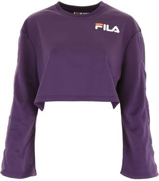 Fila Cropped Sweatshirt With Logo