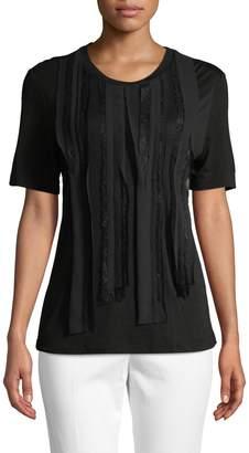Jason Wu Women's Distressed Wool-Cashmere Top
