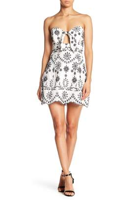 Bardot Lyndie Strapless Embroidered Mini Dress