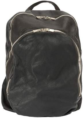 Guidi double zipped backpack
