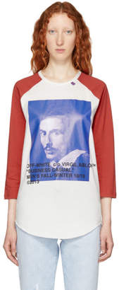 Off-White Red and White Bernini Raglan T-Shirt