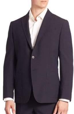 Saks Fifth Avenue COLLECTION Silk Blend Textured Stripe Jacket