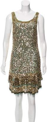 Blumarine Embellished Silk Dress