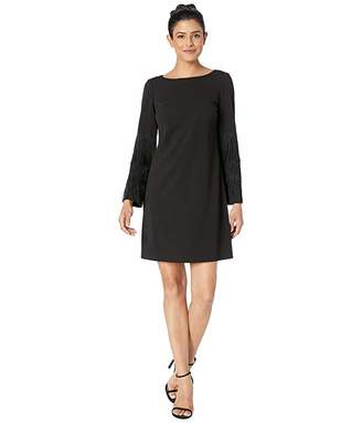 c033e7d2e2ce Adrianna Papell Knit Crepe Shift Dress w/ Bateau Neckline