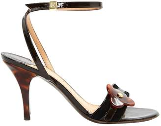 Louis Vuitton Brown Patent leather Sandals