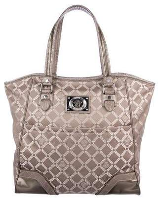 Versace Leather-Trimmed Printed Tote