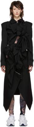 Comme des Garcons Black Multiple Self-Tie Bow Trench Coat