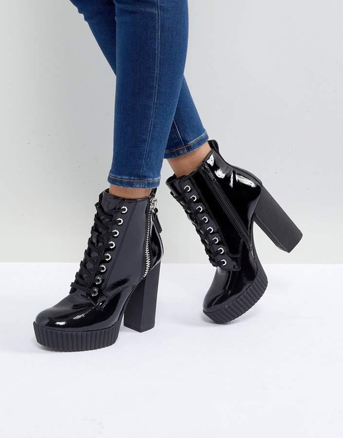 ALDO Geide Grunge Ankle Boot with Platform in Black