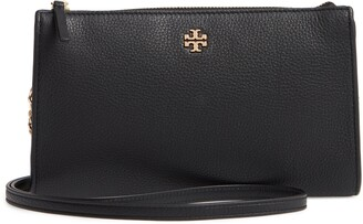 Tory Burch Pebbled Leather Top Zip Crossbody Bag