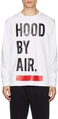 Hood by Air MEN'S LOGO COTTON LONG-SLEEVE T-SHIRT