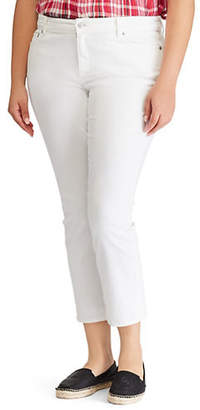 bb4eac0d130 at The Bay · Lauren Ralph Lauren Plus Ultimate Slimming Premier Straight  High-Rise Cropped Jeans