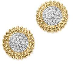 Bloomingdale's Diamond Micro Pavé Beaded Stud Earrings in 14K Yellow Gold, 0.20 ct. t.w. - 100% Exclusive