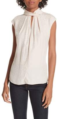 Rebecca Taylor Sleeveless Silk Jacquard Top