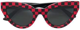 McQ Eyewear check print cat-eye sunglasses