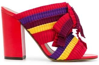 Tabitha Simmons block heel open-toe mules