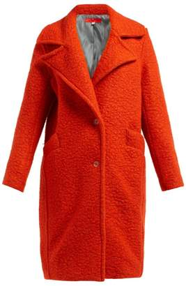 Eckhaus Latta Single Breasted Boiled Wool Blend Coat - Womens - Red