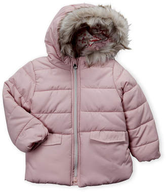 Jessica Simpson Infant Girls) Pink Hooded Puffer Jacket