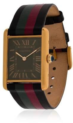 Cartier La Californienne black, red and green tank titan vega watch